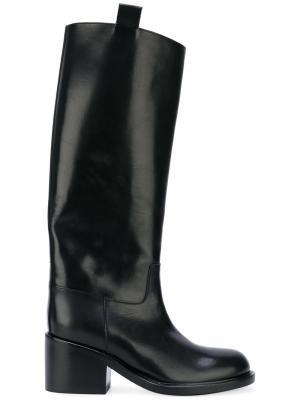 Высокие сапоги A.F.Vandevorst. Цвет: черный