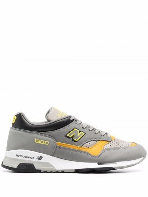 Кроссовки с нашивкой-логотипом New Balance. Цвет: серый