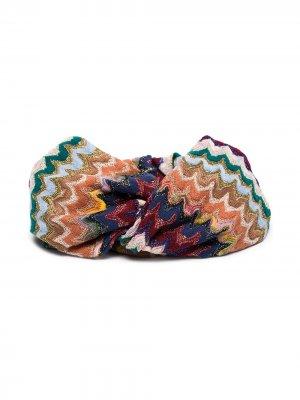 Повязка на голову с узором зигзаг Missoni. Цвет: разноцветный