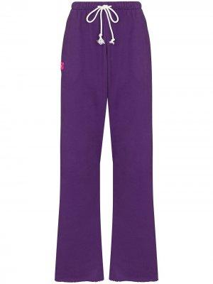 Спортивные брюки с нашивкой Natasha Zinko. Цвет: фиолетовый