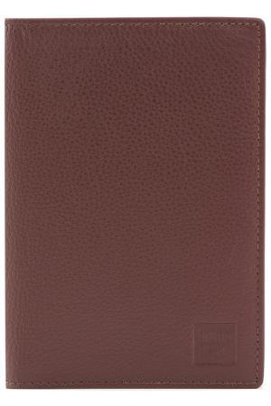 Обложка для документов Bruno Perri. Цвет: коричневый