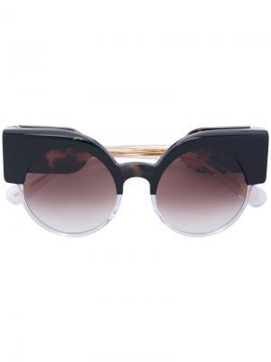 Солнцезащитные очки lma Jacques Marie Mage. Цвет: черный