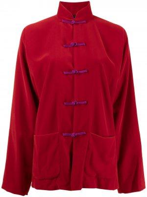 Куртка с застежкой тогл Shanghai Tang. Цвет: красный