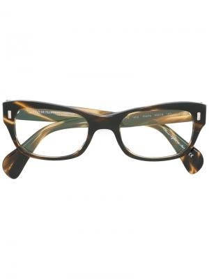 Очки Wacks Oliver Peoples. Цвет: коричневый