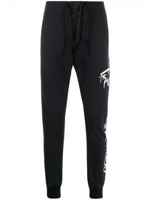 Спортивные брюки с принтом Paul & Shark. Цвет: черный