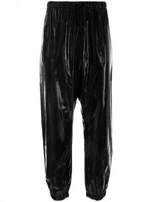 Спортивные брюки с голографическим эффектом Marcelo Burlon County of Milan. Цвет: черный