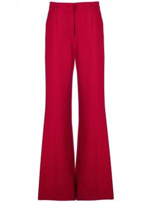 Длинные расклешенные брюки Alberta Ferretti. Цвет: красный