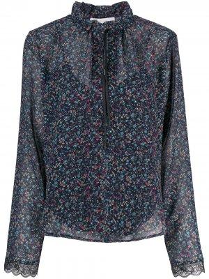 Блузка из ткани жоржет с цветочным узором See by Chloé. Цвет: синий