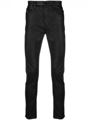 Блестящие джинсы скинни Diesel. Цвет: черный