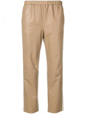 Укороченные брюки Drome. Цвет: нейтральные цвета