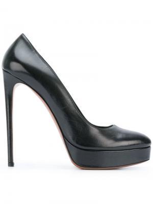 Туфли с заостренным носком на платформе Alaïa Vintage. Цвет: черный