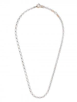 Декорированная цепочка на шею Zancan. Цвет: серебристый