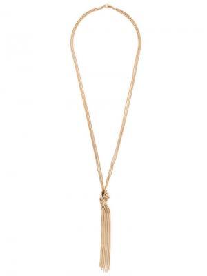 Drop knot necklace Rosantica. Цвет: металлик