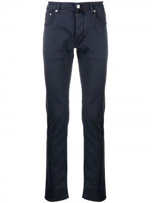 Узкие брюки чинос Jacob Cohen. Цвет: синий