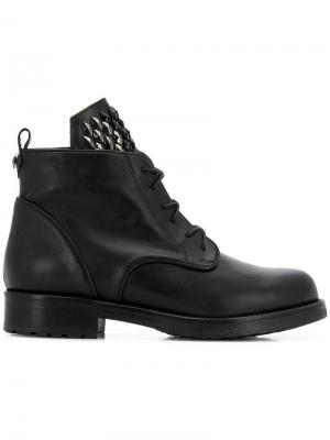 Studded tongue boots Albano. Цвет: черный