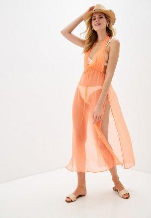 Платье пляжное Brave Soul. Цвет: оранжевый