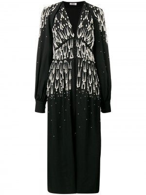 Beaded V-neck dress The Attico. Цвет: черный