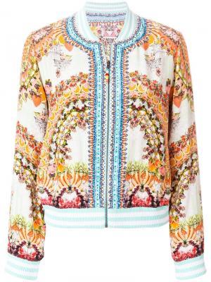 Куртка-бомбер с вышивкой Camilla. Цвет: разноцветный
