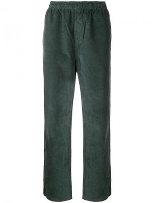 Side piping corduroy trousers Stussy. Цвет: зеленый