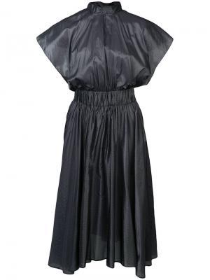 Асимметричное платье миди Vionnet. Цвет: серый