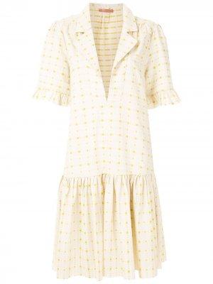 Короткое платье Nira Clube Bossa. Цвет: нейтральные цвета