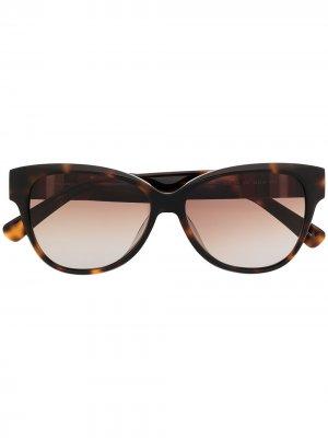 Солнцезащитные очки с оправе кошачий глаз Longchamp. Цвет: коричневый