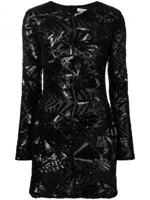 Sequin pattern dress P.A.R.O.S.H.. Цвет: черный