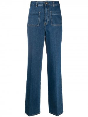 Расклешенные брюки Ba&Sh. Цвет: синий