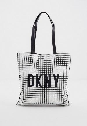 Сумка DKNY. Цвет: белый