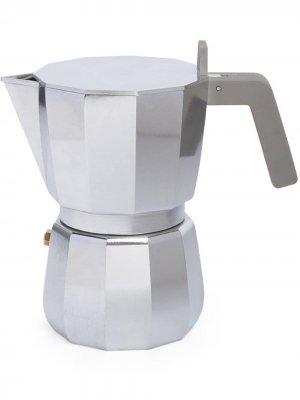 Кофеварка для эспрессо Alessi. Цвет: серебристый