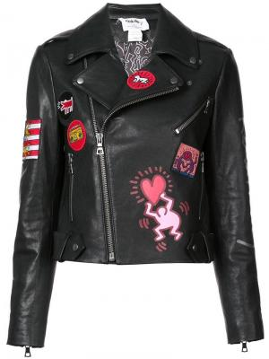 Cody biker jacket Alice+Olivia. Цвет: черный