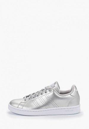 Кеды adidas. Цвет: серебряный