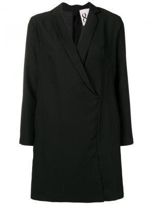 Платье без застежки 8pm. Цвет: черный