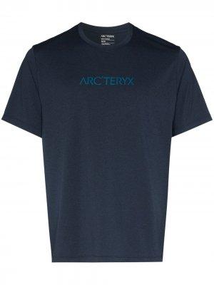 Arcteryx футболка с логотипом Arc'teryx. Цвет: синий