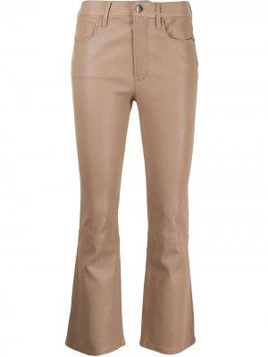 Укороченные брюки FRAME. Цвет: коричневый