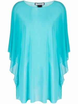 Пляжное платье-накидка Fisico. Цвет: синий