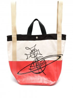 Дорожная сумка Worker Runner из канваса Vivienne Westwood. Цвет: красный
