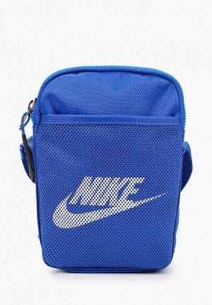 Сумка Nike. Цвет: синий