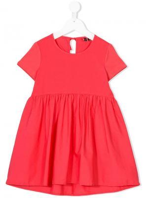 Расклешенное платье с короткими рукавами European Culture Kids. Цвет: розовый