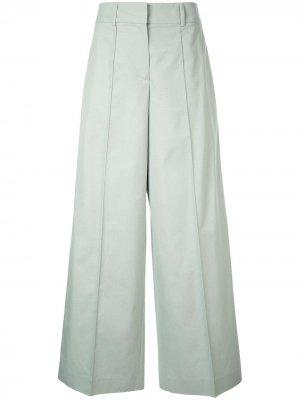 Расклешенные брюки строгого кроя Jil Sander Navy. Цвет: зеленый