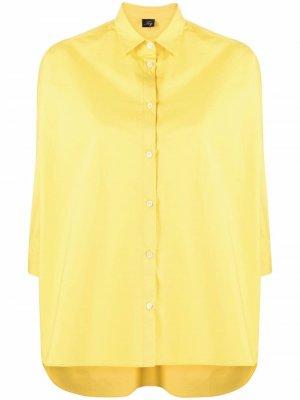 Рубашка оверсайз на пуговицах Fay. Цвет: желтый