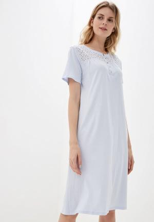 Сорочка ночная Marks & Spencer. Цвет: голубой