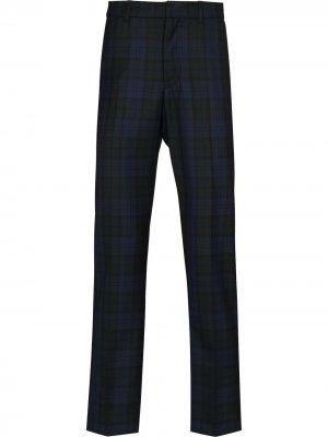Прямые брюки Surrey в клетку Wood. Цвет: синий