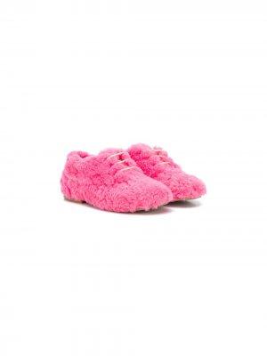 Пушистые кроссовки Gallucci Kids. Цвет: розовый