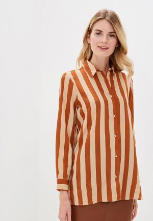 Блуза Only. Цвет: коричневый