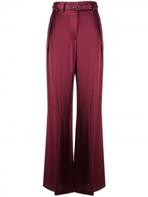 Расклешенные брюки широкого кроя Gabriela Hearst. Цвет: красный