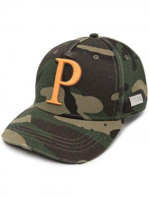 Бейсболка Iconic с логотипом Philipp Plein. Цвет: зеленый