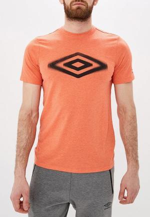 Футболка Umbro. Цвет: оранжевый