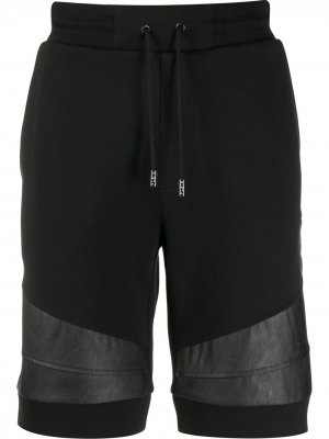 Спортивные шорты с контрастными полосками Philipp Plein. Цвет: черный