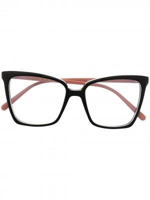 Очки в оправе кошачий глаз Marni Eyewear. Цвет: черный